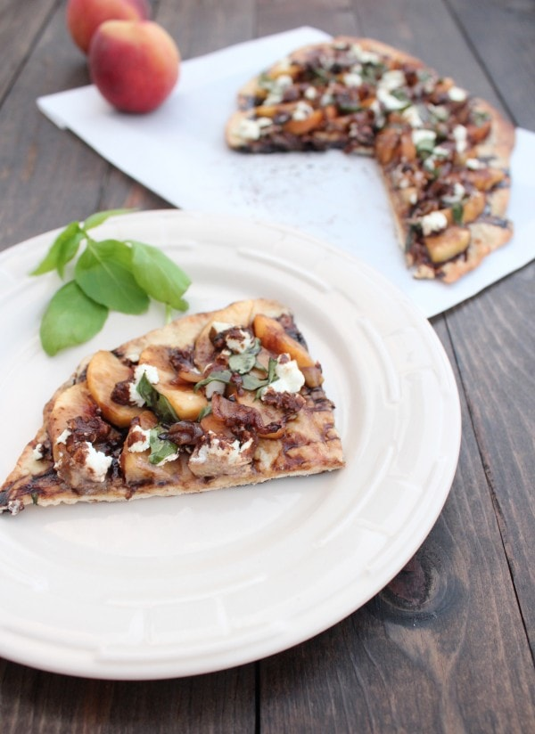 Balsamic Peach Grilled Flatbread