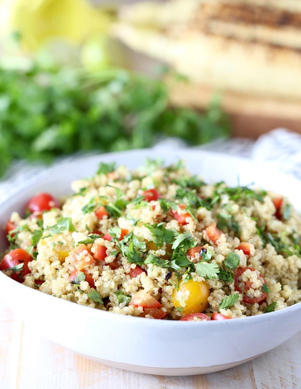 Vegan Quinoa Corn Tomato Salad Recipe