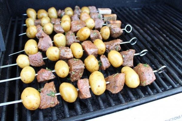 Grilled Rosemary Steak Skewers