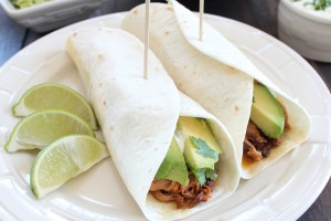 Slow Cooked Chipotle Honey Pulled Pork Tacos