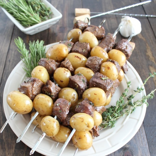 Rosemary Steak and Potato Skewers