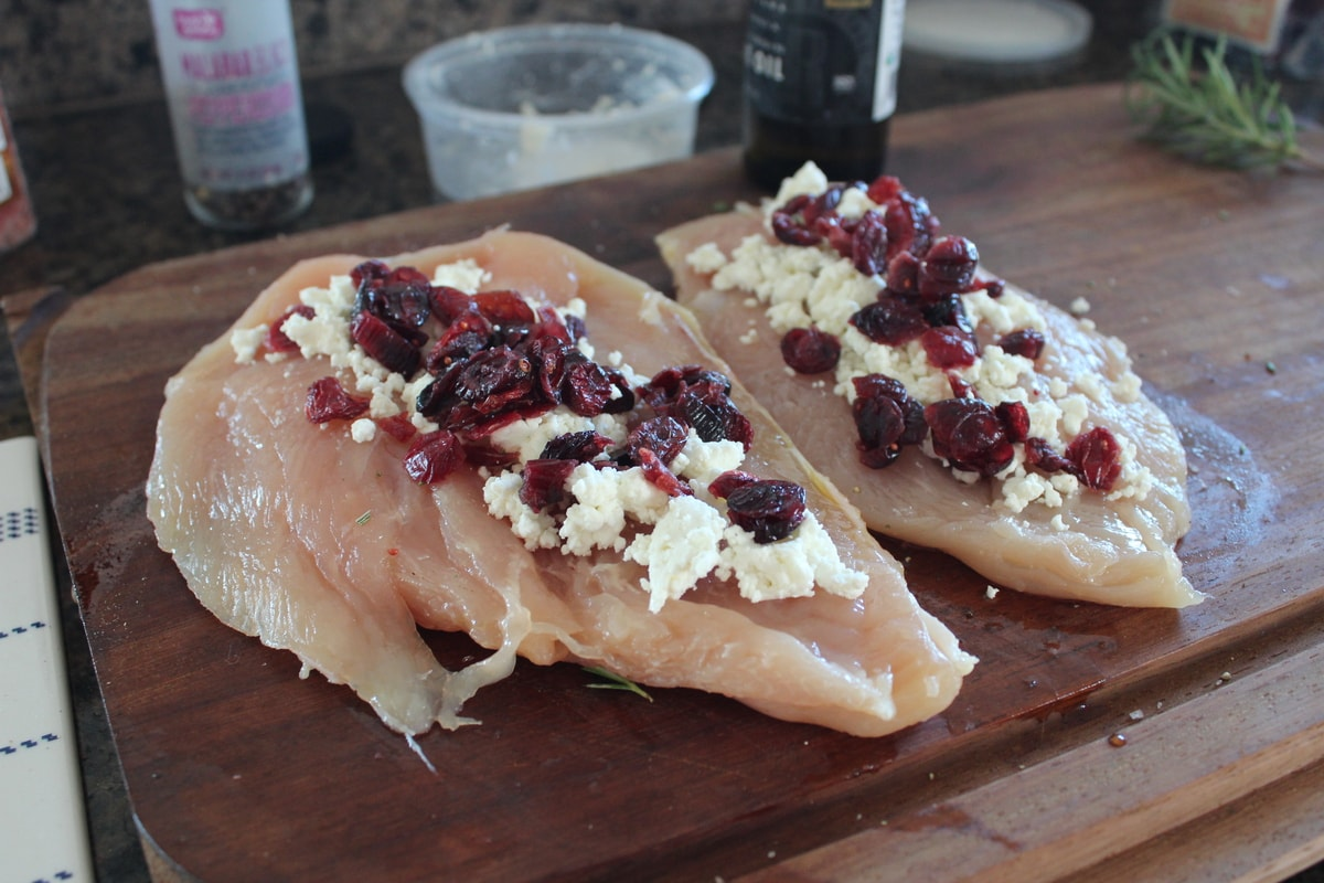 Grilled Cranberry Goat Cheese Stuffed Chicken is a quick and simple ...