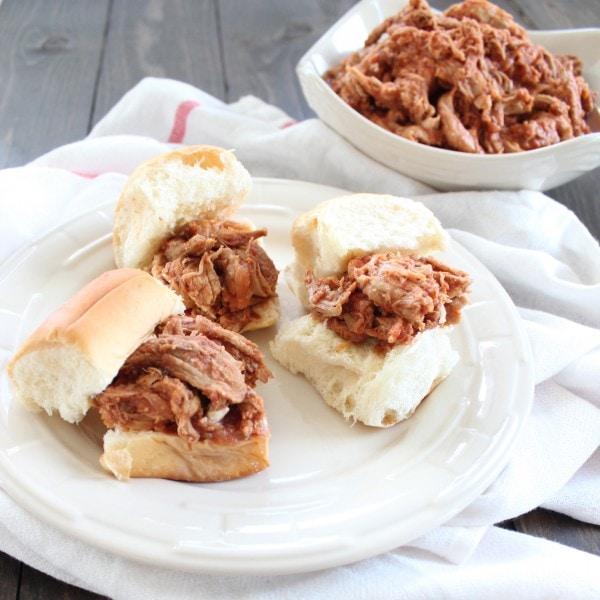 Crock Pot BBQ Pulled Pork Sliders