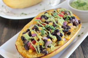 Mexican Vegetarian Stuffed Squash