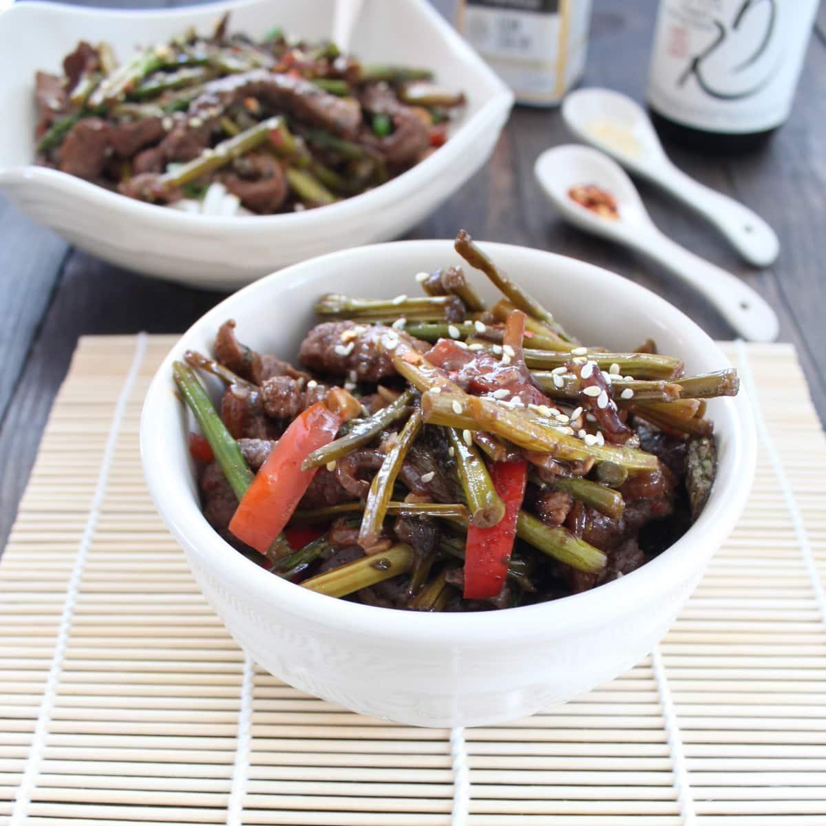 Gluten Free Beef Asparagus Stir Fry | Little Leopard Book