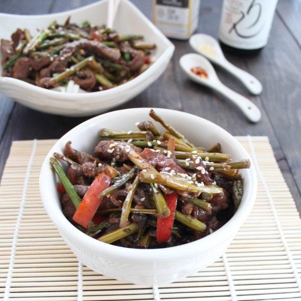 Asparagus Beef Stir Fry - Little Leopard Book