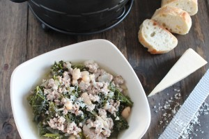 Slow Cooked Turkey Kale Soup