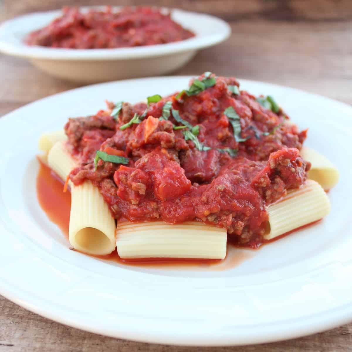 Roasted Tomato Bolognese Sauce