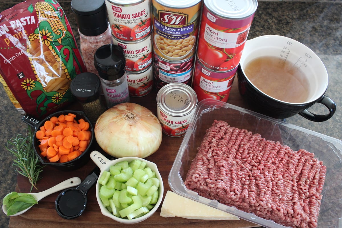 Pasta Fagioli Ingredients