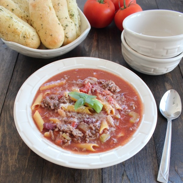 "This Italian soup favorite whose name translates ""pasta and beans ..."