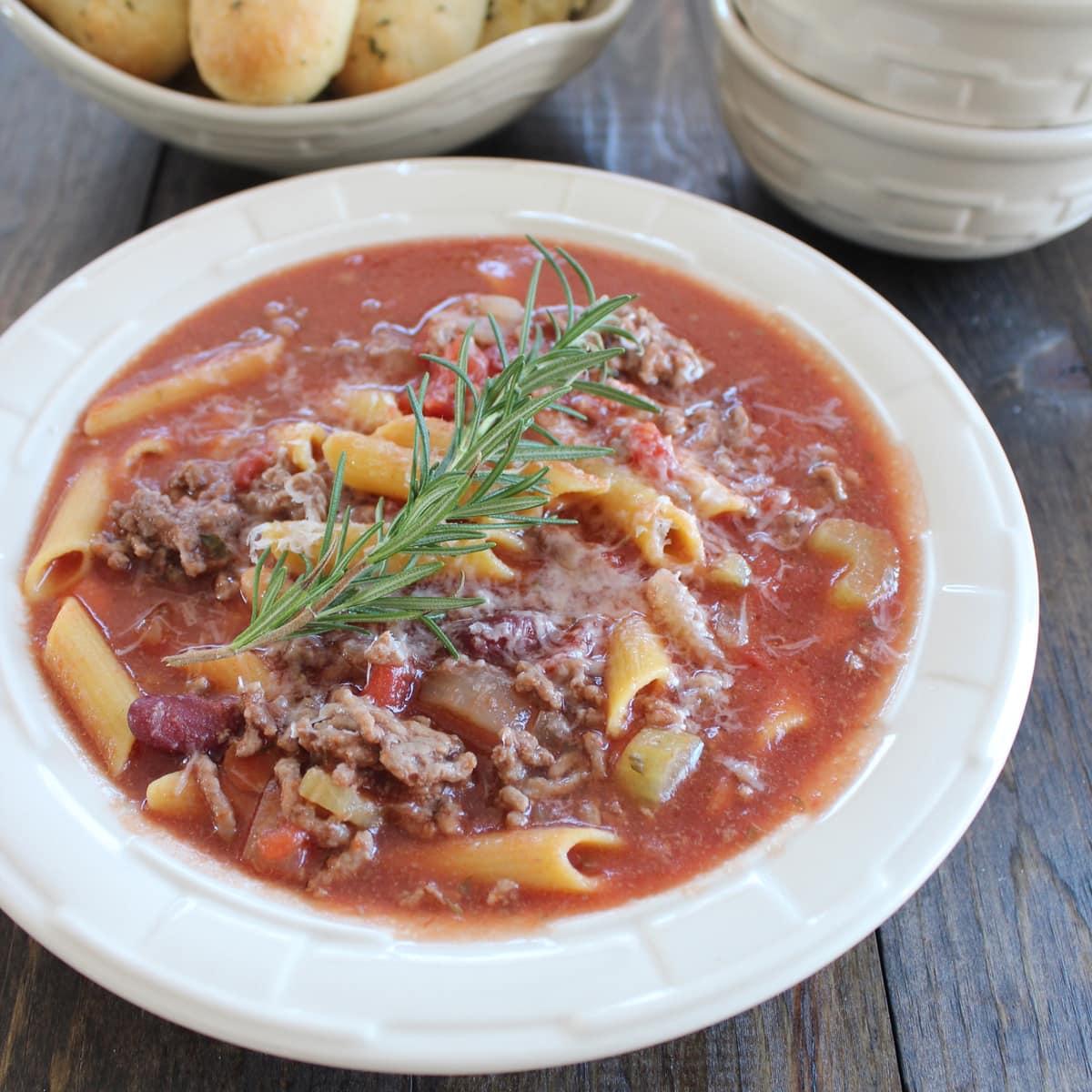 Pasta e Fagioli Soup | Little Leopard Book