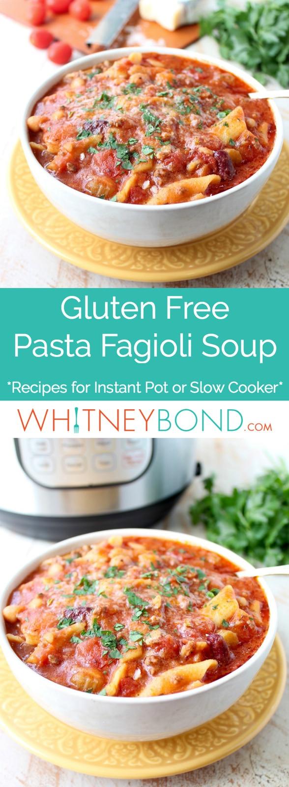 Gluten Free Pasta Fagioli Soup Pinterest