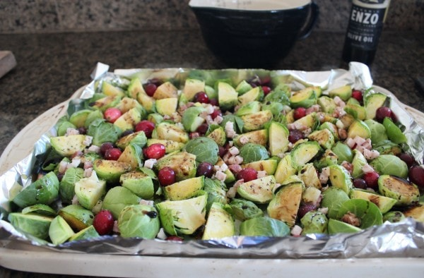 Roasting Cranberry Pancetta Brussels Sprouts