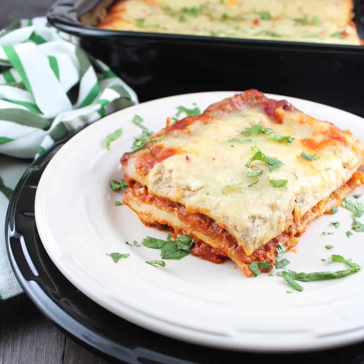 Spicy Chorizo Mexican Lasagna