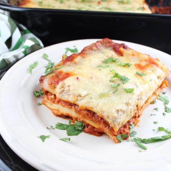 Chorizo Pepper Jack Mexican Lasagna