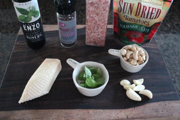 Sun Dried Tomato Pesto Ingredients