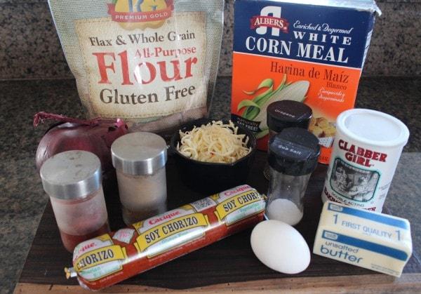 Gluten Free Chorizo Empanada Ingredients