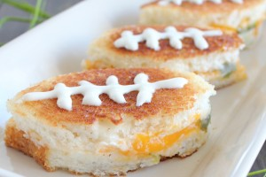Football Jalapeño Popper Grilled Cheese