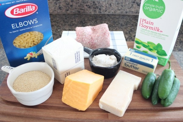 Sausage Jalapeno Macaroni and Cheese Ingredients