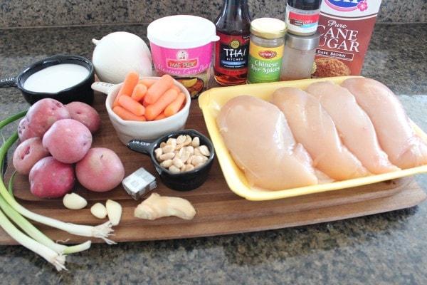 Massaman Curry Chicken Ingredients