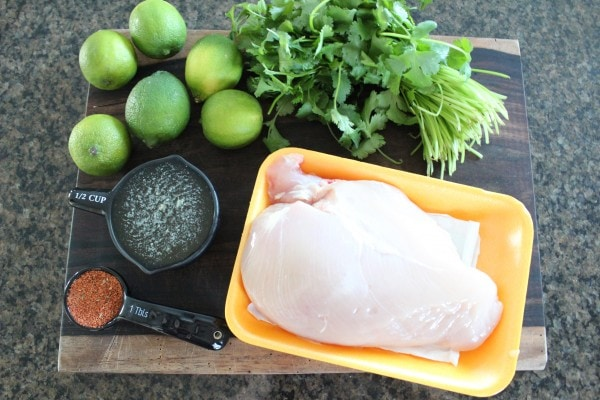 Cilantro Lime Crock Pot Chicken Ingredients
