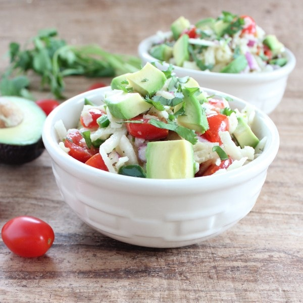 Healthy Jicama Avocado Salad