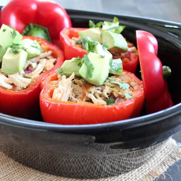Paleo Chicken Stuffed Peppers