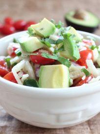 Spiralized Jicama & Avocado Salad