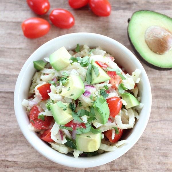 Avocado Salad with Honey Lime Dressing