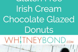 These Irish Cream Chocolate Glazed Donuts are a sweet and delicious breakfast treat, perfect for St Patricks Day and gluten free!