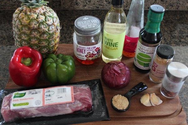 Sweet and Sour Pork Tenderloin Ingredients