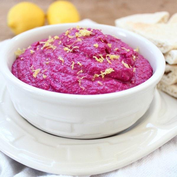 Vegan Beet Hummus Recipe