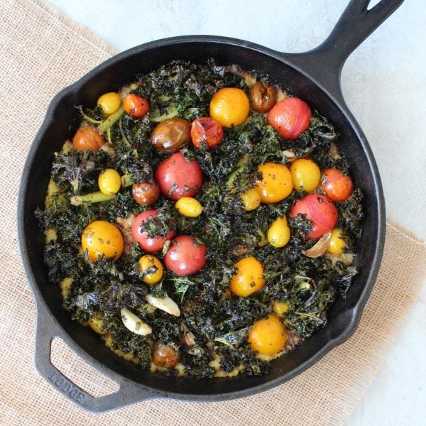 Kale Tomato Polenta Skillet Dinner
