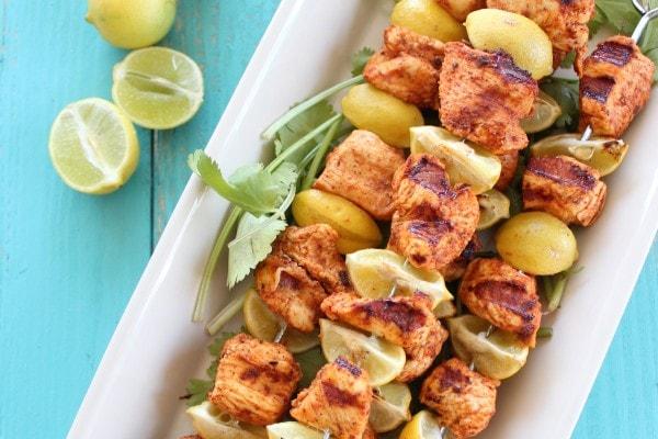 Key Lime Grilled Chicken Taco Skewers