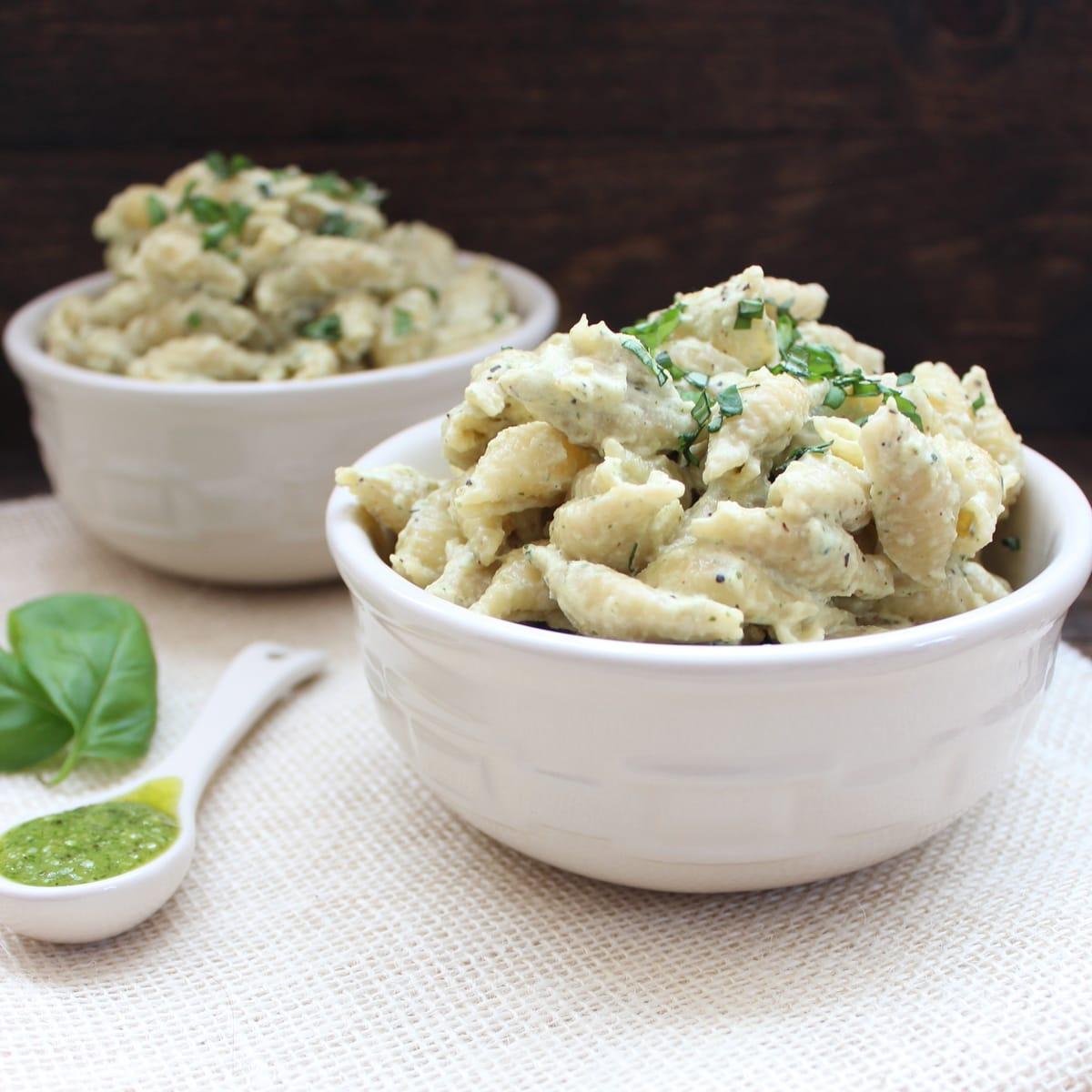 how to cook basil pesto pasta