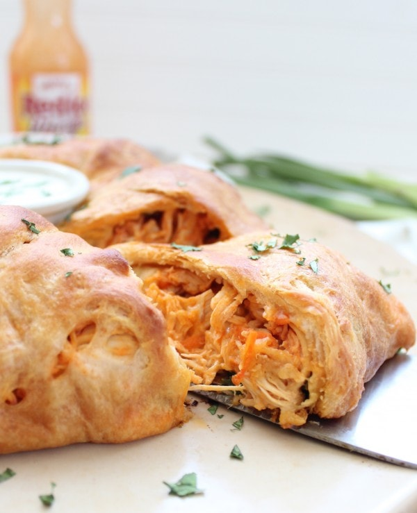 Buffalo Chicken Crescent Roll Ring