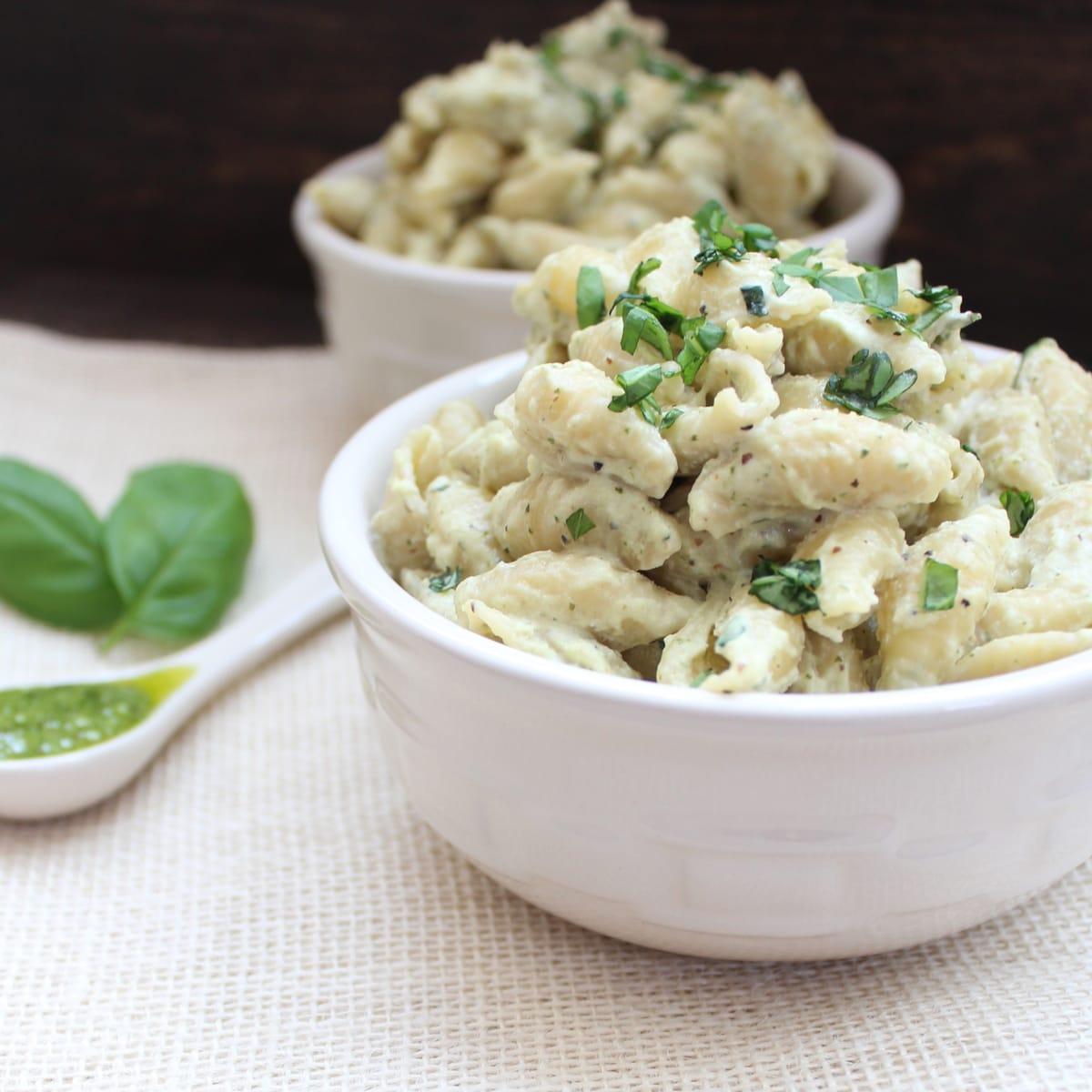 Cheesy Basil Pesto Pasta