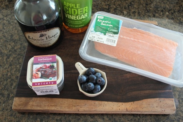 Blueberry BBQ Grilled Salmon Ingredients
