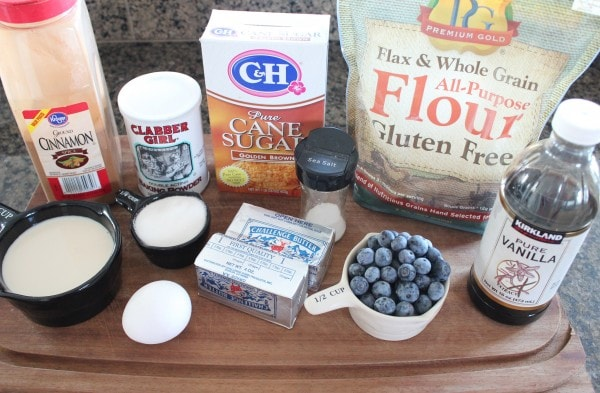 Gluten Free Blueberry Coffee Cake Ingredients
