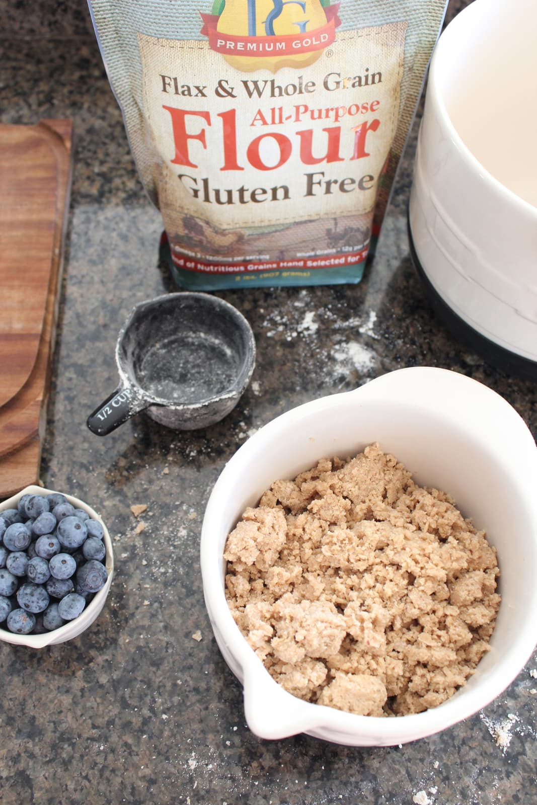 gluten free coffee cake muffins are filled with fresh blueberries ...