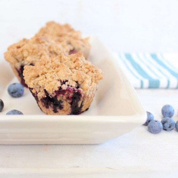 Gluten Free Blueberry Coffee Cake Muffins