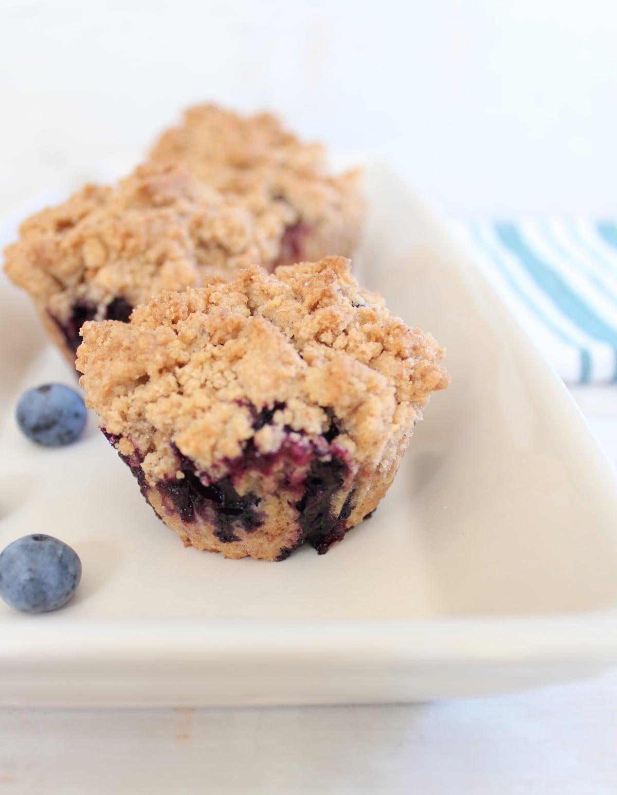 Gluten Free Blueberry Crumb Cake Muffins