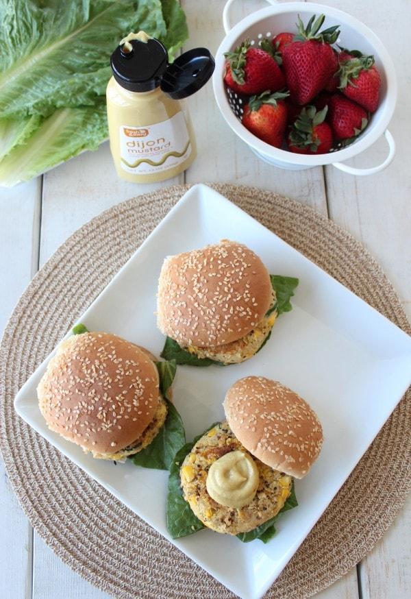 Chickpea Zucchini Quinoa Burgers