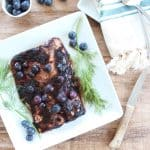 Blueberry BBQ Grilled Salmon