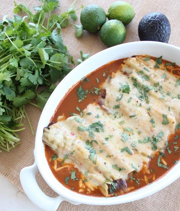 Vegetarian Mexican Manicotti