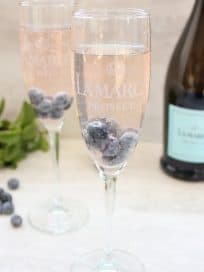 Sparkling Blueberry Prosecco Cocktail