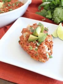 Quinoa Crusted Mexican Chicken