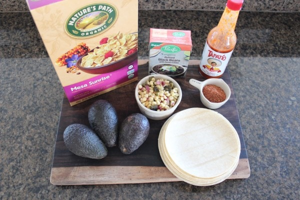 Avocado Vegetarian Tacos Ingredients