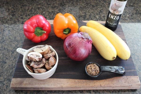 Vegetable Skewer Ingredients