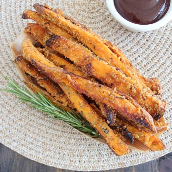 ... new favorite side dish! Crispy, flavorful, amazing sweet potato fries